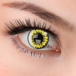 A-CL203 YELLOW FLOWER COSPLAY COLOR CONTACT LENS (2PCS/PAIR)