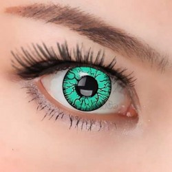 CL216 GREEN CRACK COSPLAY COLOR CONTACT LENS (PAIR)