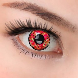 CL218 RED CRACK COSPLAY COLOR CONTACT LENS (PAIR)