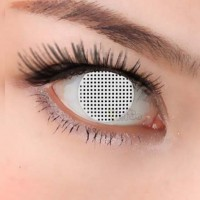 CL219 White Mesh Wholesale Popular Eyewear Color Crazy Contact Lense Halloween (PAIR)