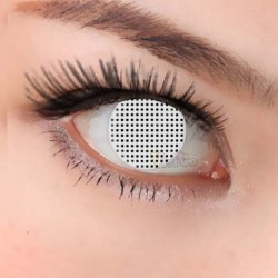 CL219 White Mesh Wholesale Popular Eyewear Color Crazy Contact Lense Halloween (PAIR)