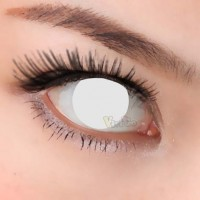 CL223WHITE BLIND COSPLAY COLOR CONTACT LENS (PAIR)