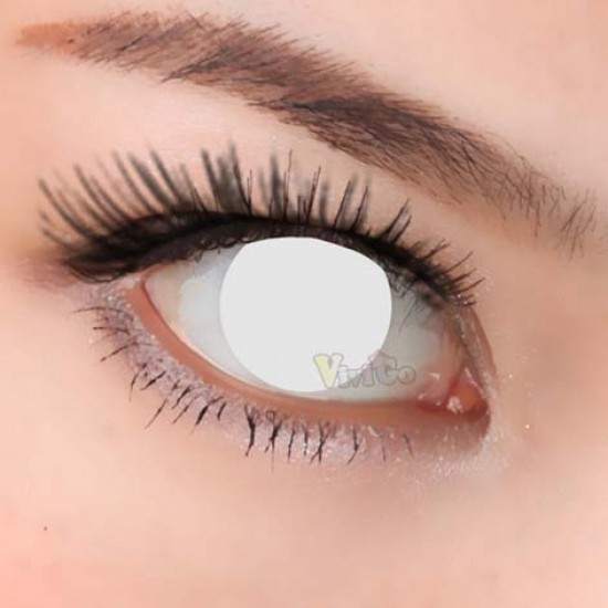 CL223 WHITE BLIND COSPLAY COLOR CONTACT LENS (2PCS/PAIR)