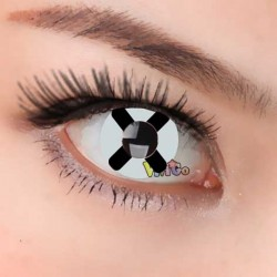 CL231 BLACK CROSS COSPLAY COLOR CONTACT LENS (PAIR)