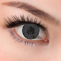 CL241 BLACK MESH COSPLAY COLOR CONTACT LENS (PAIR)