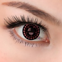 CL243 Black Red Ciel NEWJAPANESE anime cosplay sof contact lens, yearly used color lenses (PAIR)
