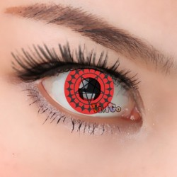 CL249 RED BLACK CIEL, JAPANESE ANIME BLACK BULTER cosplay soft contact lens (PAIR)