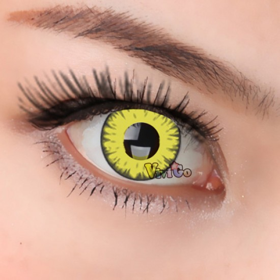 CL261 Yellow Shine Yearly Used Cosplay Soft Color Contact Lens (PAIR)