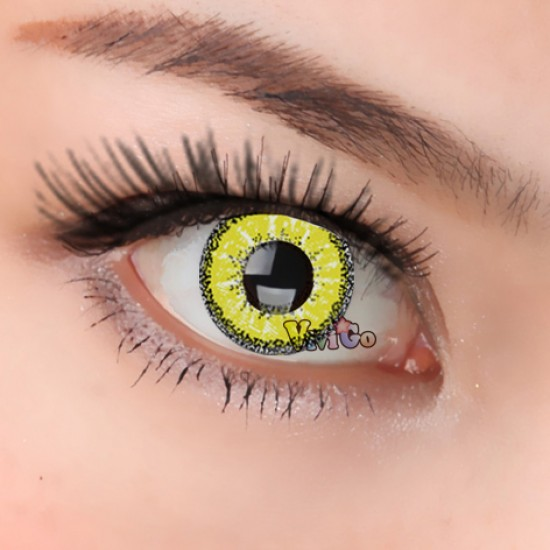 A-CL265 SNOWSPORT YELLOW COSPLAY COLOR CONTACT LENSES (2PCS/PAIR)