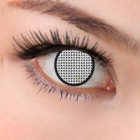 CL298 WHITE MESH MANSON COSPLAY COLOR CONTACT LENS (PAIR)