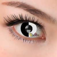 CL303 BLACK WHITE COSPLAY COLOR CONTACT LENS (PAIR)