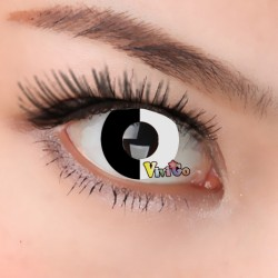 A-CL303 BLACK WHITE COSPLAY COLOR CONTACT LENS (2PCS/PAIR)