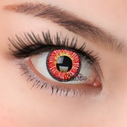 CL323 Icesnow Red Color Cosplay Contact Lenses(2PCS/PAIR)