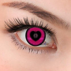 CL377 Pink Heart Color Crazy Contact Lense (2PCS/PAIR)