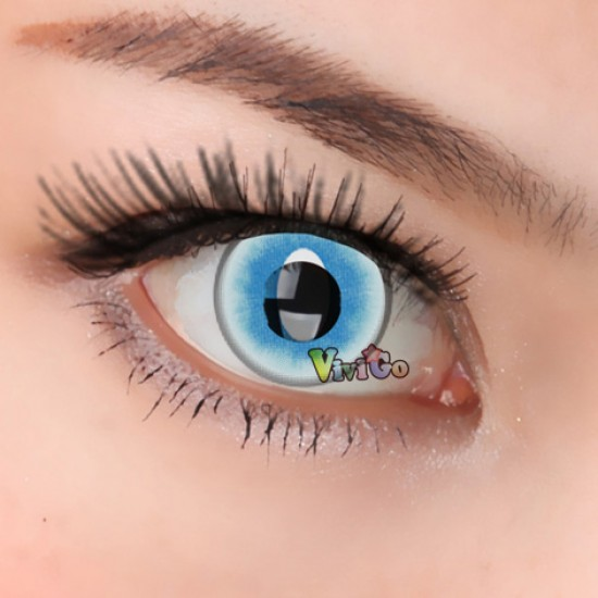 A-CL383 ICEBLUE CATEYE COLOR SOFT CONTACT LENS (2PCS/PAIR)