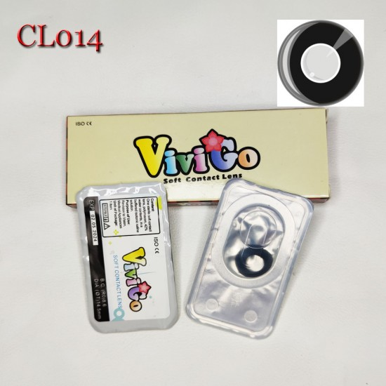 A-CL014 BLACK RING COSPLAY COLOR CONTACT LENS (2PCS/PAIR)