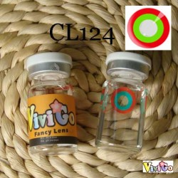 A-CL124 RED GREEN RING COSPLAY COLOR CONTACT LENS (2PCS/PAIR)