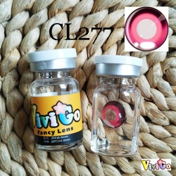 CL277 ANIME PINK COSPLAY CONTACT LENS (2PCS/PAIR)