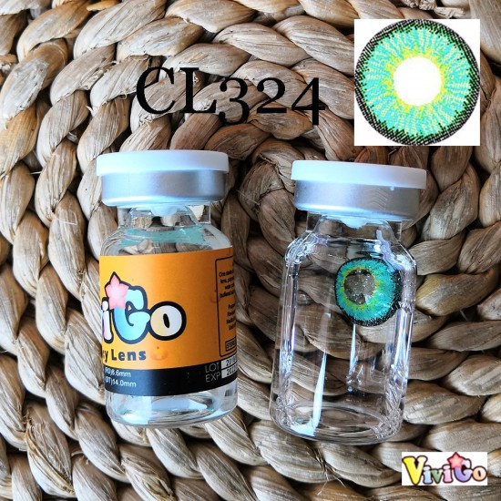 CL324 Icesnow Green Color Cosplay Contact Lenses (2PCS/PAIR)